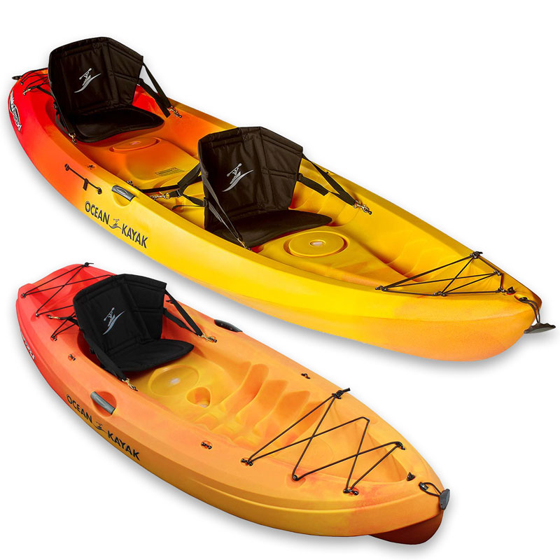 Ocean and Kayak brand double kayak and single kayak rentals on Maui.