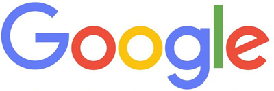 Official Google logo with brand colors of blue, red, yellow and green.
